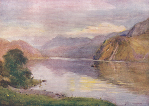A Heaton Cooper - Ennerdale Lake at Sunset