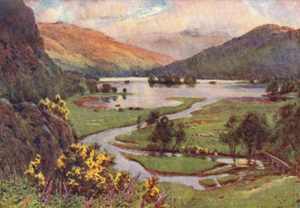 A Heaton Cooper - Sunset, Rydal Water