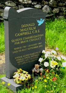 Donald Campbell grave at Coniston
