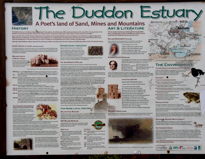 Duddon Estuary information board at Haverigg