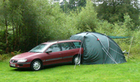 Tent and car near Coniston Water